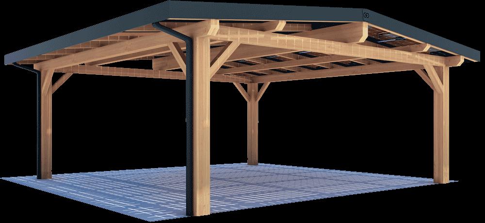 Abri solaire bois