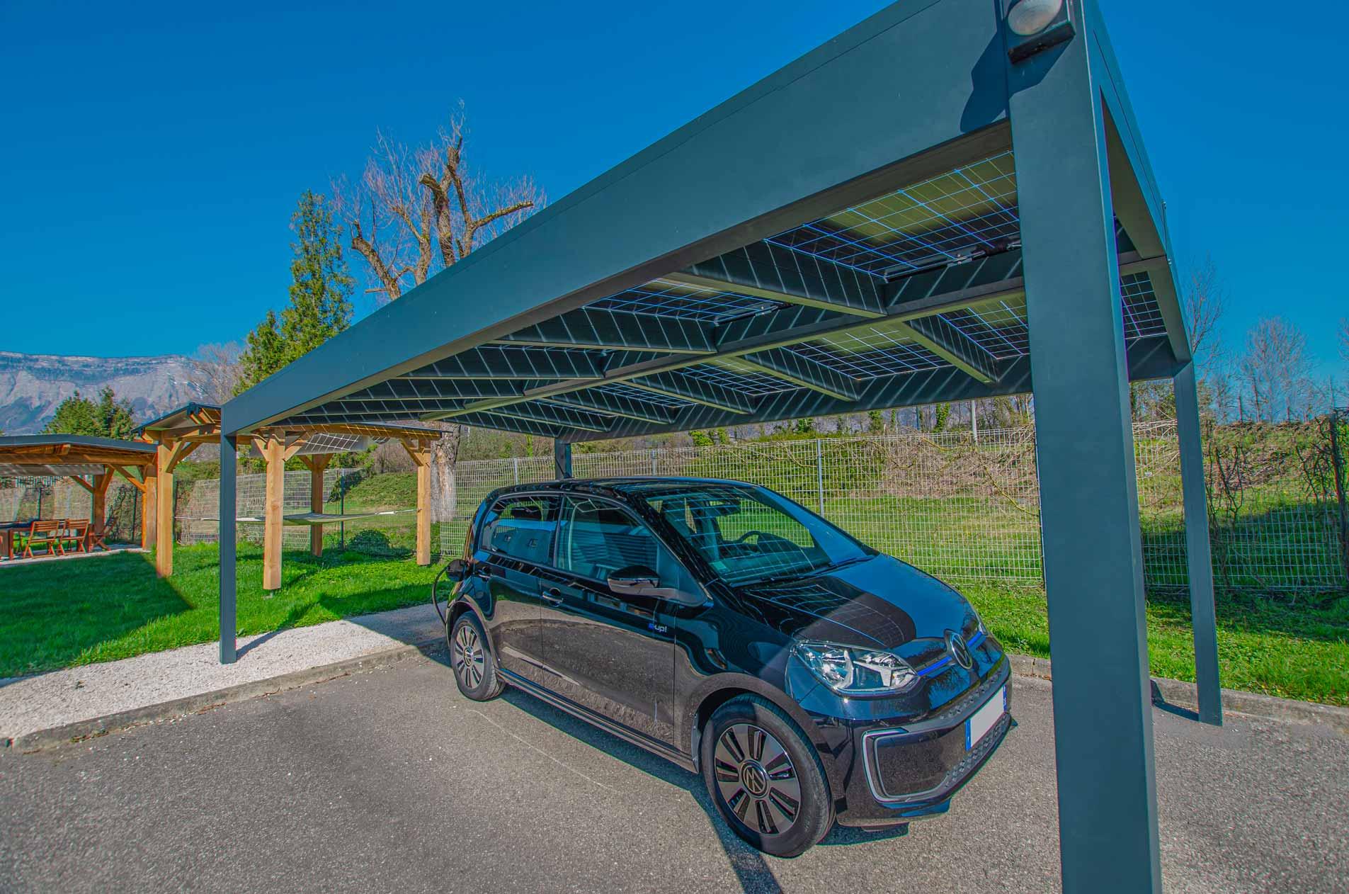 carport solaire en aluminium